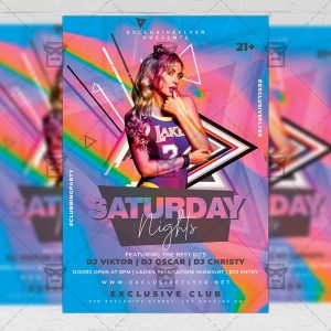Download Saturday Nights PSD Flyer Template Now