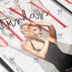 Download Sexy Saturdays PSD Flyer Template Now