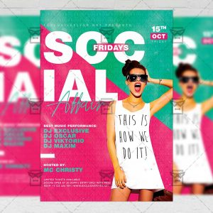 Download Social Fridays Affair PSD Flyer Template Now
