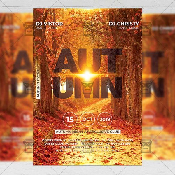 Download Autumn PSD Flyer Template Now