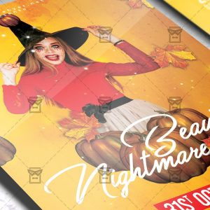 Download Beautiful Nightmare PSD Flyer Template Now