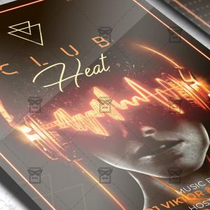 Download Club Heat Flyer - Club A5 Template