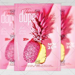 Download Dope Thursdays Flyer - Club A5 PSD Template