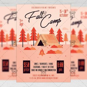 Download Fall Camp PSD Flyer Template Now