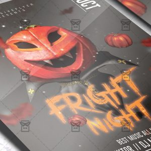 Download Fright Night PSD Flyer Template Now