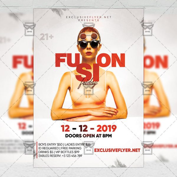 Download Fusion Friday Flyer - Club A5 PSD Template