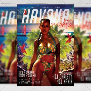 Download Havana Nights PSD Flyer Template Now