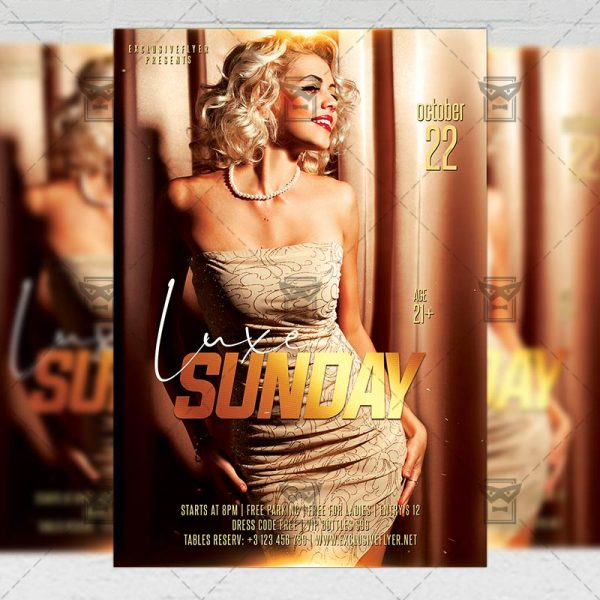 Download Luxe Sundays PSD Flyer Template Now