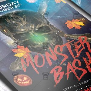 Download Monster Bash PSD Flyer Template Now