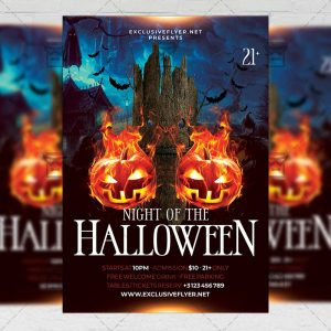 Night of the Halloween Flyer - Seasonal A5 Template