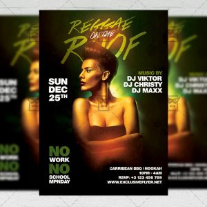 Download Reggae on the Roof Flyer - Club A5 PSD Template