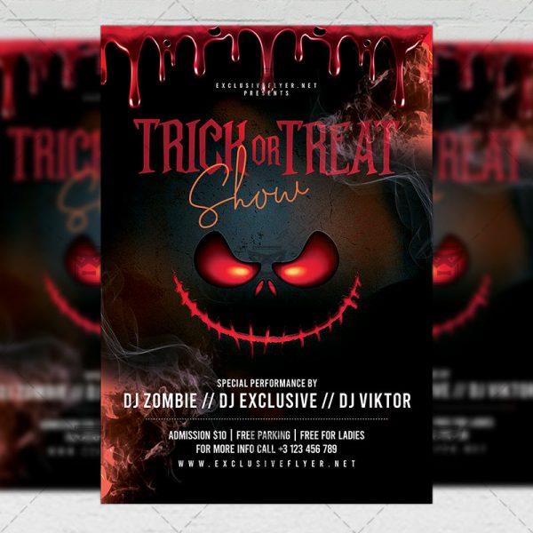 Trick or Treat Flyer - Seasonal A5 Template