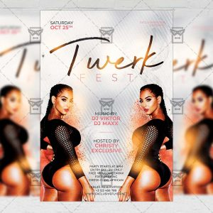 Download Twerk Fest PSD Flyer Template Now