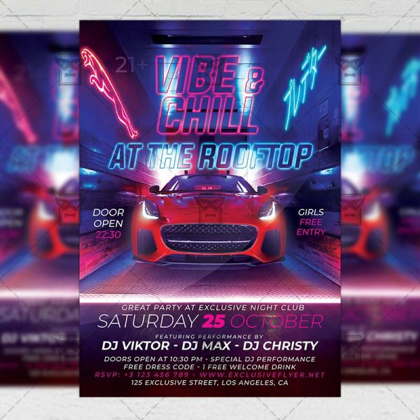 Download Vibe and Chill PSD Flyer Template Now