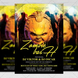 Download Zombie Bash PSD Flyer Template Now