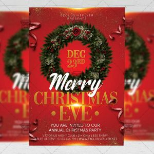Christmas Eve 2020 Flyer - Winter PSD Template
