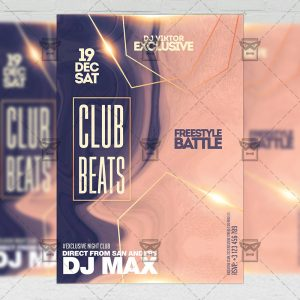 Club Beats Flyer - Club PSD Template