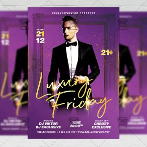 Luxury Friday Flyer - Club PSD Template