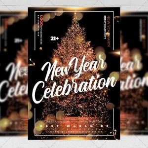 New Year Celebration Flyer - Winter PSD Template