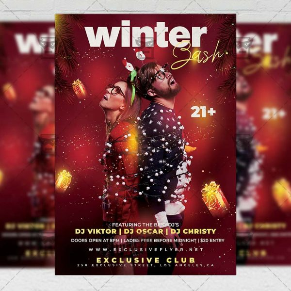 Winter Bash Flyer - Seasonal PSD Template