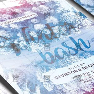 Winter Bash Flyer - Winter PSD Template