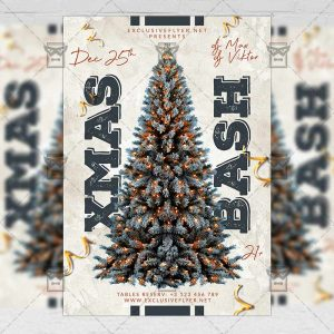 Xmas Bash Flyer - Winter PSD Template