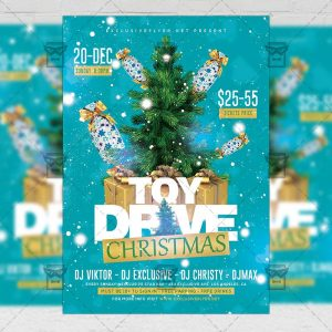 Xmas Toy Drive Flyer - Winter PSD Template