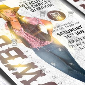 Cowboys Costume Party Flyer - Western PSD Template
