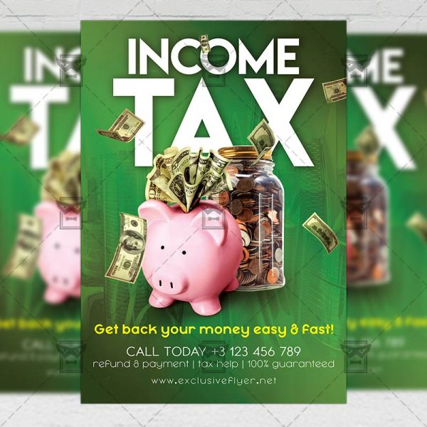 Income Tax Flyer - Business PSD Template