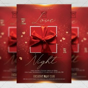 Love Night Flyer - Winter PSD Template