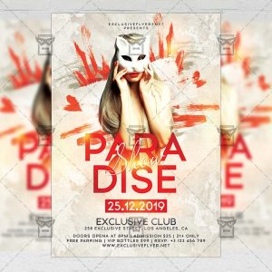 Paradise Show Flyer - Club PSD Template
