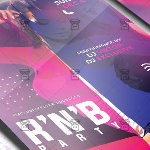 R'n'B Bash Flyer - Club PSD Template