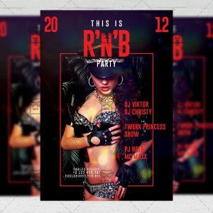 R'n'B Party Flyer - Club PSD Template