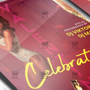 V-Day Celebration Flyer - Winter PSD Template