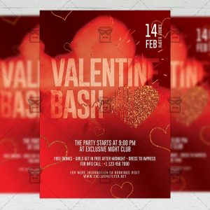 Valentine Bash Flyer - Winter PSD Template