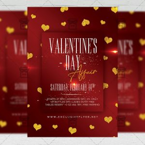 Valentines Day Affair Flyer - Winter PSD Template