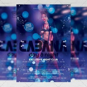 Cabana Party - Club PSD Template + Instagram Ready Size