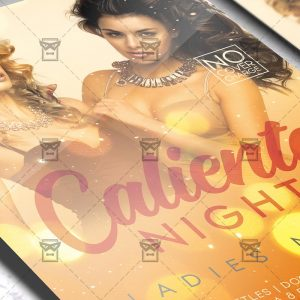 Caliente Night Flyer - Club PSD Template
