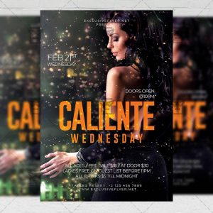 aliente Wednesday Flyer - Club PSD Template
