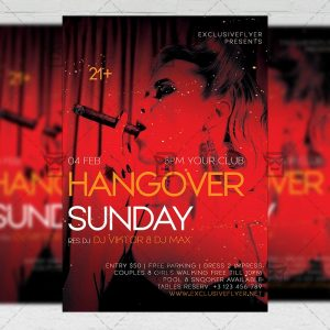Hangover Sunday Flyer - Club PSD Template