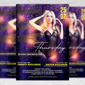 Last Thursday Party Template - Flyer PSD + Instagram Ready Size
