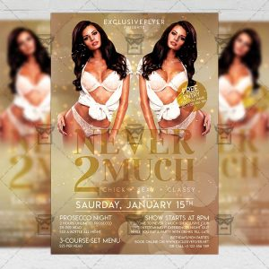Never 2 Much Flyer - Club PSD Template