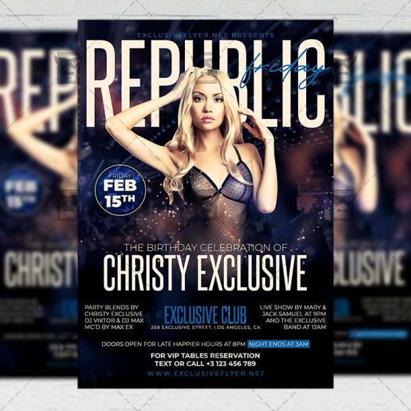 Republic Friday Template - Flyer PSD + Instagram Ready Size