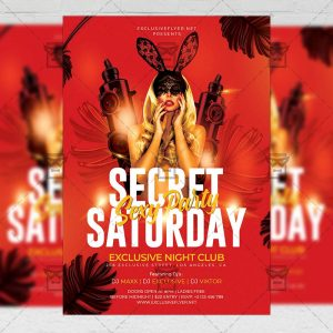 Secret Sexy Party Flyer - Club PSD Template