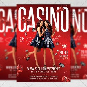 Sexy Casino Night Flyer - Club PSD Template