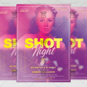 Shot Night Flyer - Club PSD Template