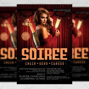 Soiree Flyer - Club PSD Template + Instagram Ready Size