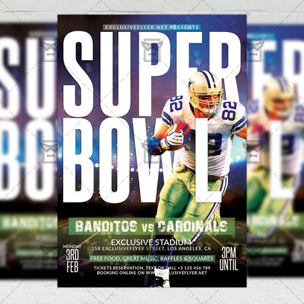 Super Bowl 2020 Template - Flyer PSD + Instagram Ready Size