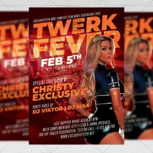 Twerk Fever Template - Flyer PSD + Instagram Ready Size