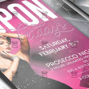 Upon Fridays Template - Flyer PSD + Instagram Ready Size
